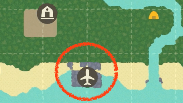 飛行場の位置